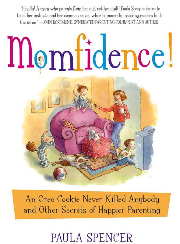 Momfidence book cover, Three Rivers Press